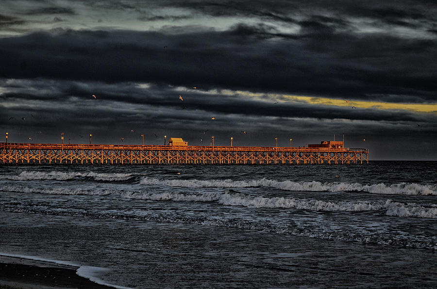 Atlantic Photograph - Pier Into Darkness by Kelly Reber