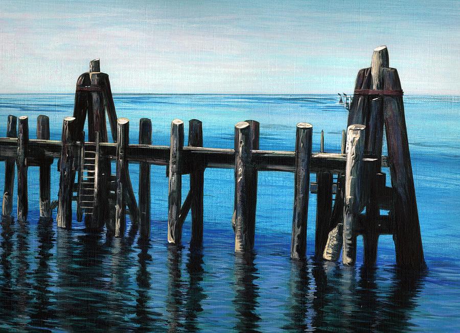 Pier Painting - Pier by Jason Girard