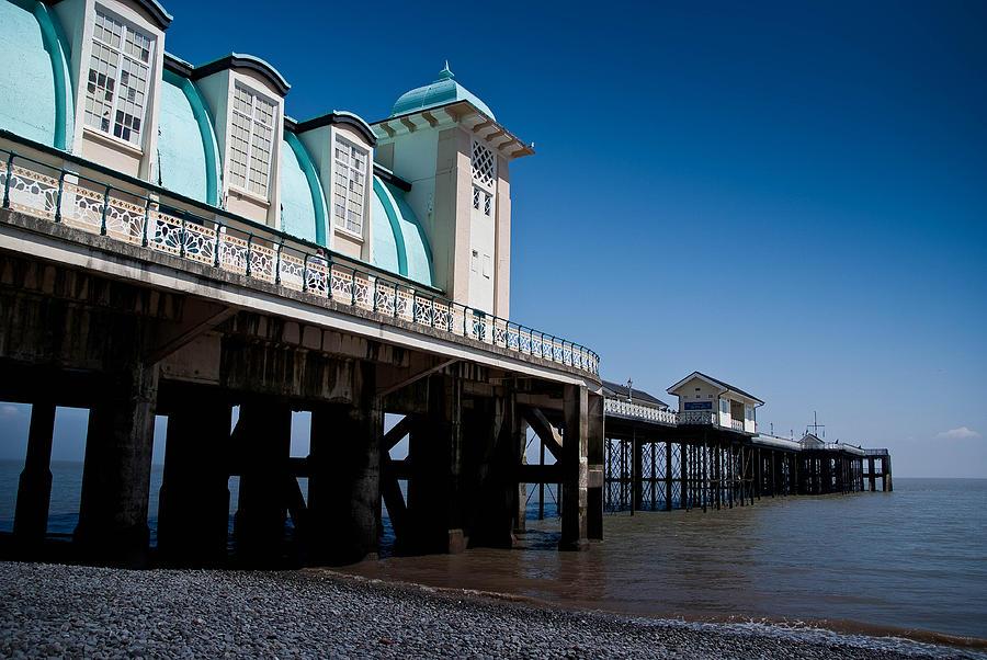 Blue Sky Photograph - Pier by Richard Hadley