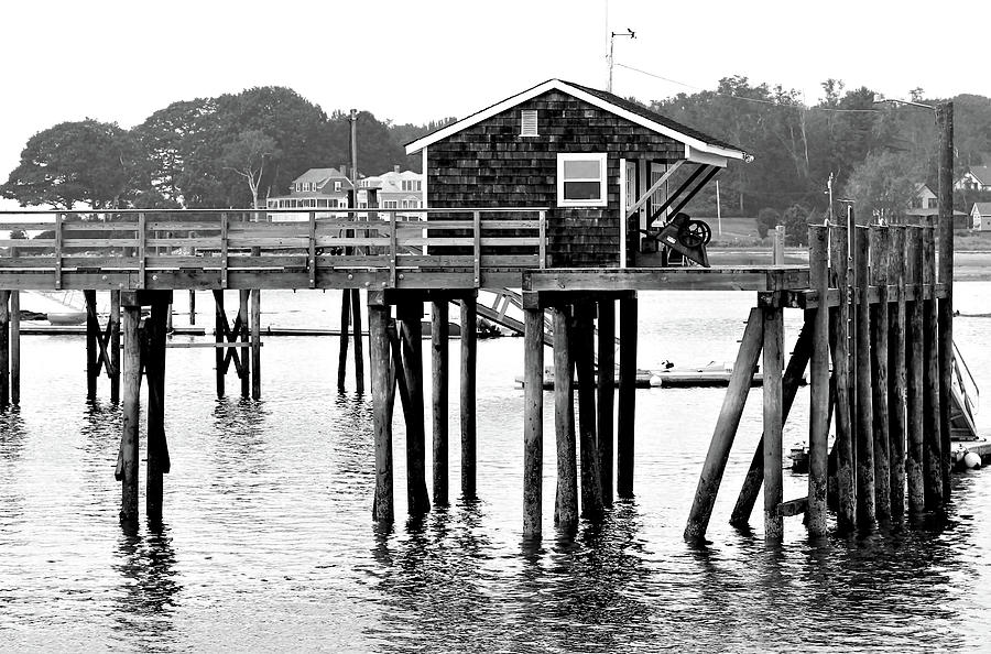 Pier Photograph - Pier Shack by Brian Pflanz