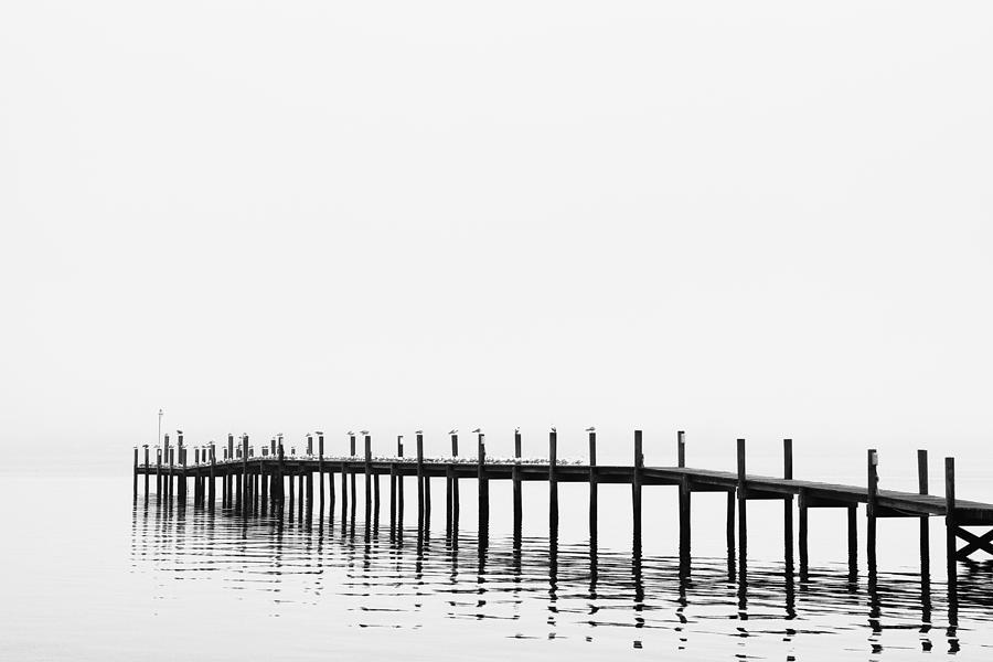 Balance Photograph - Pier by Skip Nall