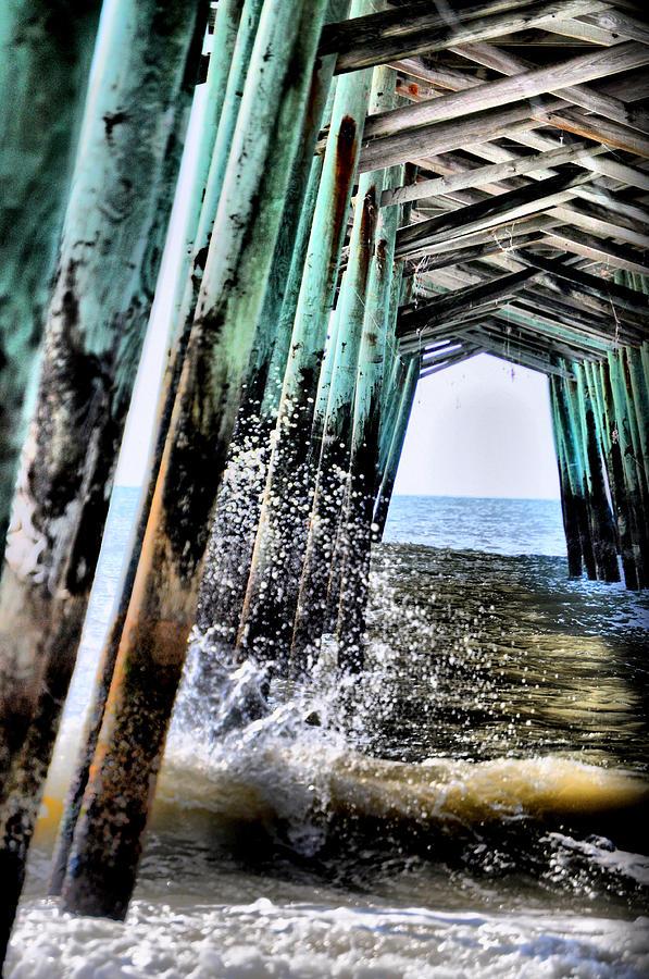 Pier Photograph - Pier Splash by Emily Stauring