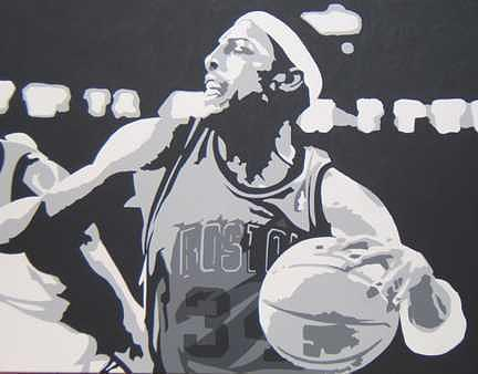Basketball Painting - Pierce by Michael James Toomy