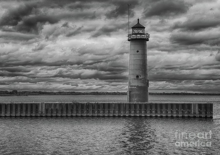 Canon Photograph - Pierhead Lighthouse In Monochrome by Ricky L Jones