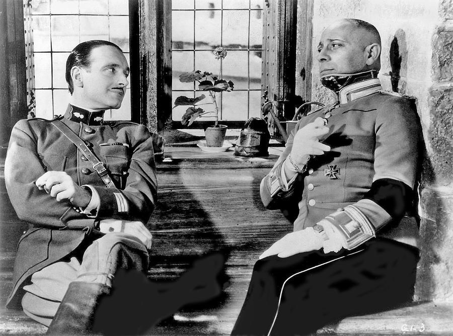 Pierre Fresnay And Erich Von Stroheim La Grande Illusion Publicity Photo 1937 Photograph