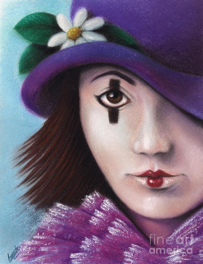 Clown Pastel - Pierrete by Enaile D Siffert