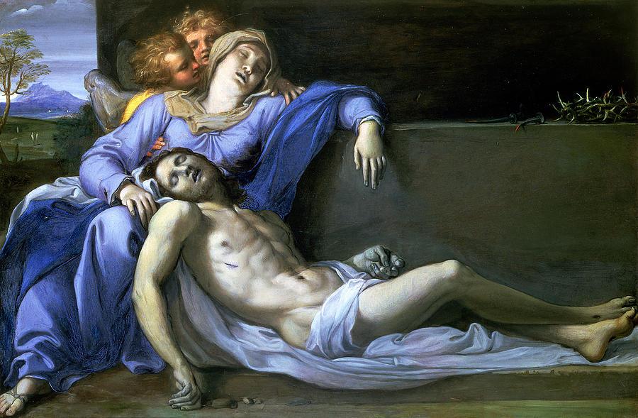 Pieta Painting - Pieta by Annibale Carracci