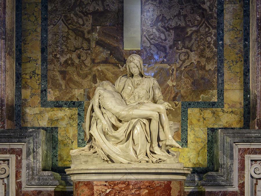 Pieta by Michelangelo. Saint Peter. Vatican City, Rome ...