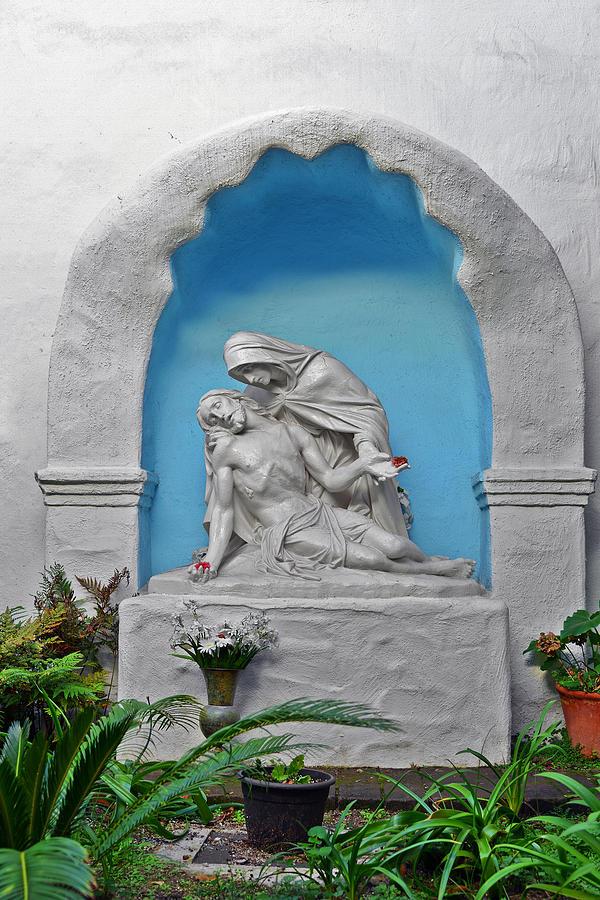 Pieta Garden Mission Diego de Alcala by Christine Till