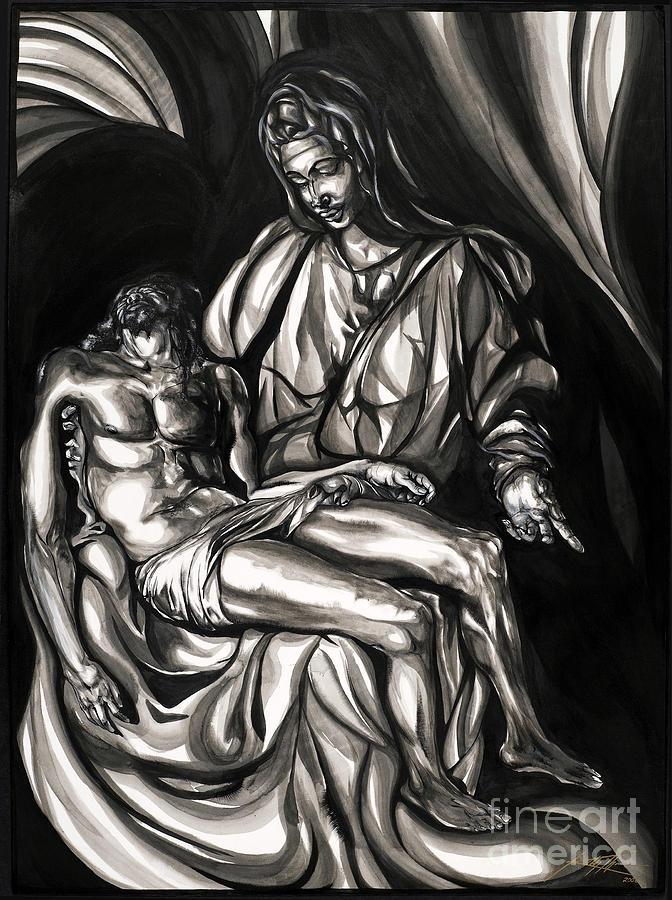 Portrait Painting - Pieta by Keith  Thurman