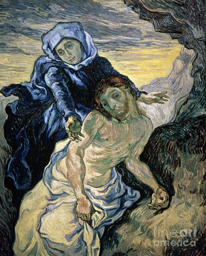 Pieta Painting - Pieta by Vincent van Gogh