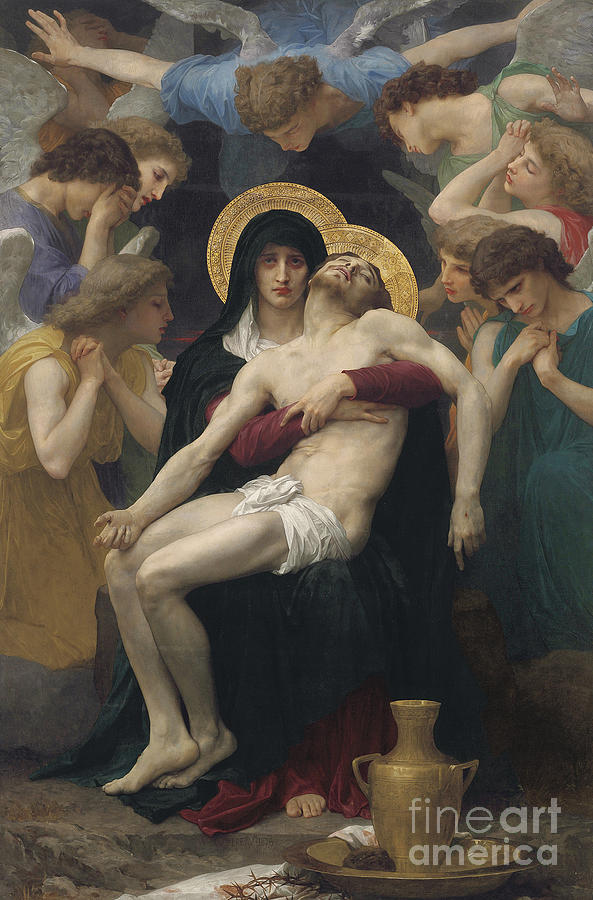 Pieta Painting - Pieta by William-Adolphe Bouguereau