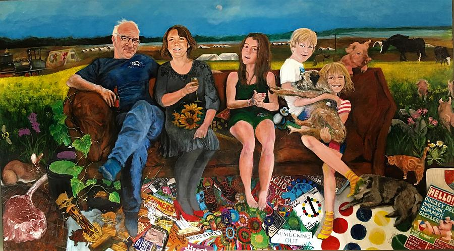 Family Painting by Michelle Deyna-Hayward