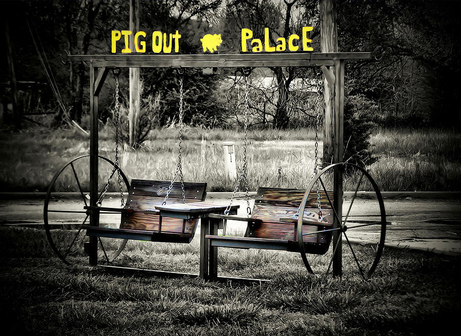 Nature Photograph - Pig Out Palace by Karen Scovill