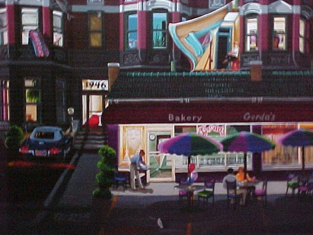 Cities Art Painting - Pigeon At Night by Bobbi Baltzer-Jacobo