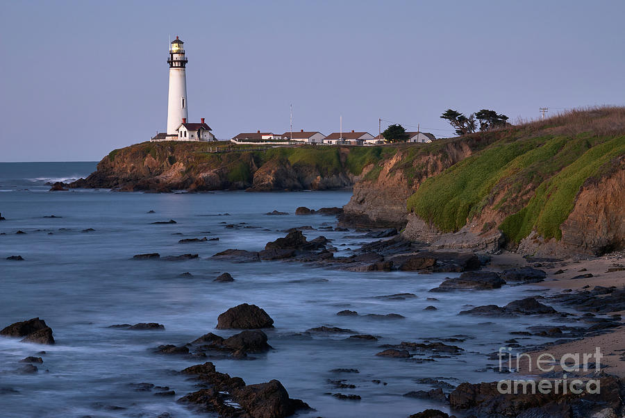 Pigeon Point Lighthouse at Sunrise on a Clear Morning by Dean Birinyi