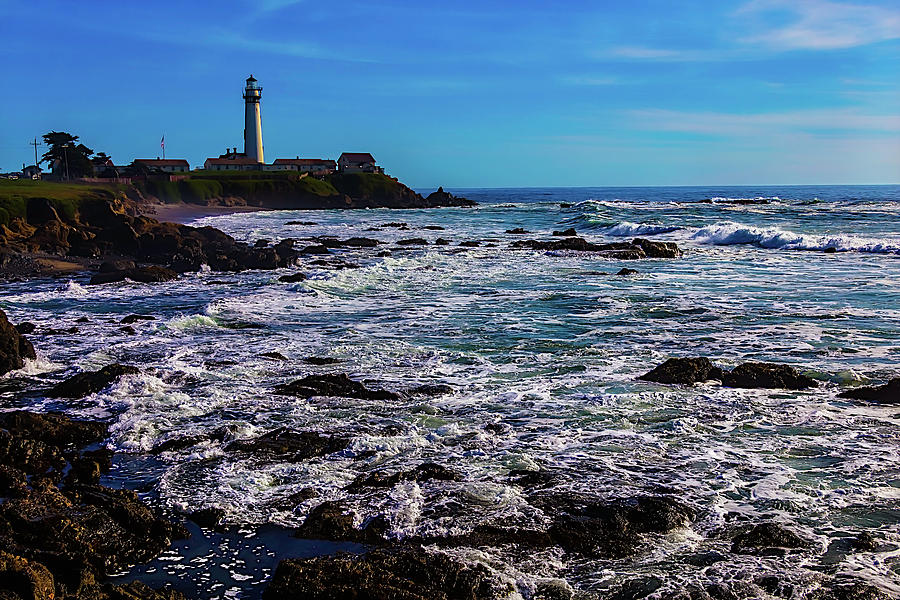 Pigeon Point Lighthouse Photograph - Pigeon Point Lighthouse Coastline by Garry Gay