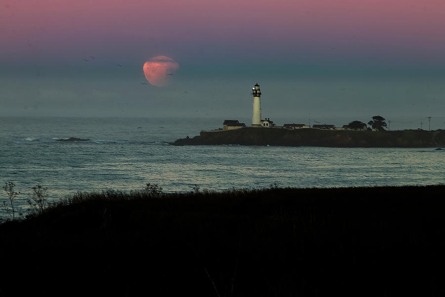 Pigeon Point Supermoonset by Wes Jimerson