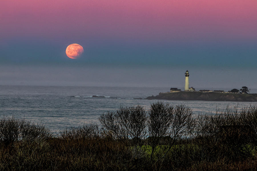 Pigeon Point Supermoon by Wes Jimerson