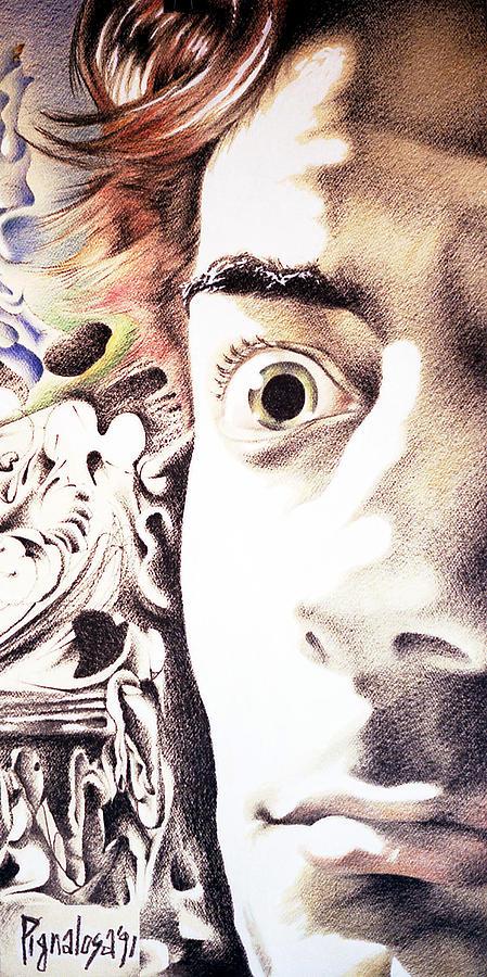 Arte Drawing - Pignalosa Selportrait by Ciro Pignalosa