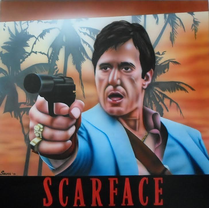 Scarface Painting - Pigs Dont Fly by Brett Sauce