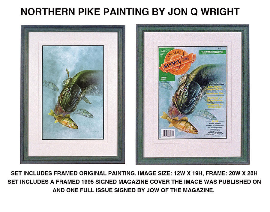 Jon Q Wright Painting - Pike And Perch by JQ Licensing
