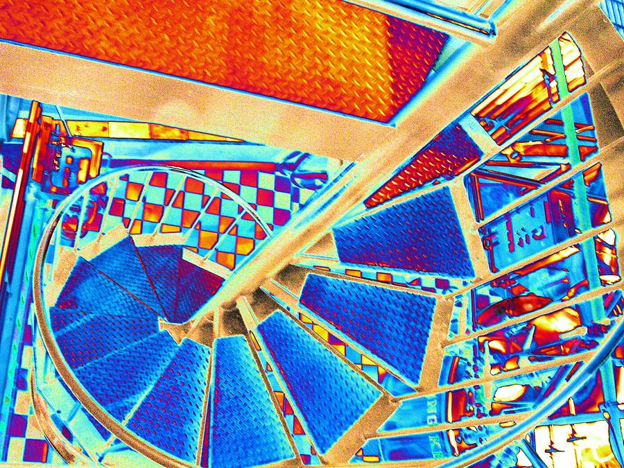 Seattle Digital Art - Pike Brewpub Stair by Tim Allen
