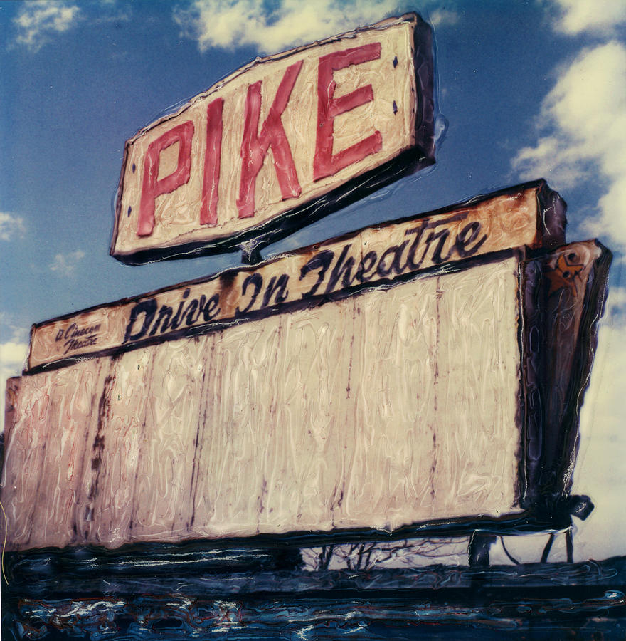 Polaroid Photograph - Pike Drive-in by Steven  Godfrey