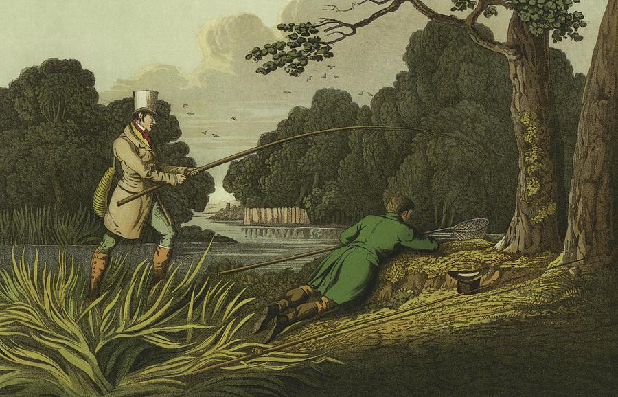 Pike Fishing Painting - Pike Fishing by Henry Thomas Alken