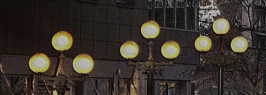 Seattle Digital Art - Pike Lights  by Tim Allen