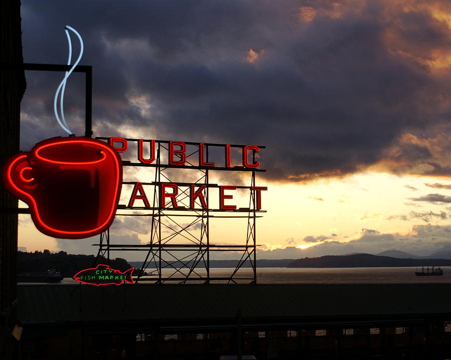 Abstract Photograph - Pike Place Market by Sonja Anderson