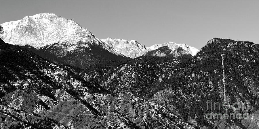 Pikes Peak And Incline 36 By 18 Photograph