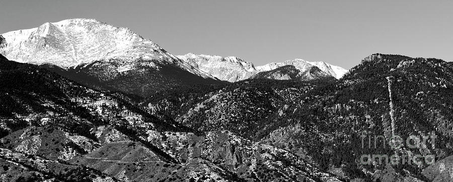 Bikers Photograph - Pikes Peak and Incline Panorama by Steven Krull