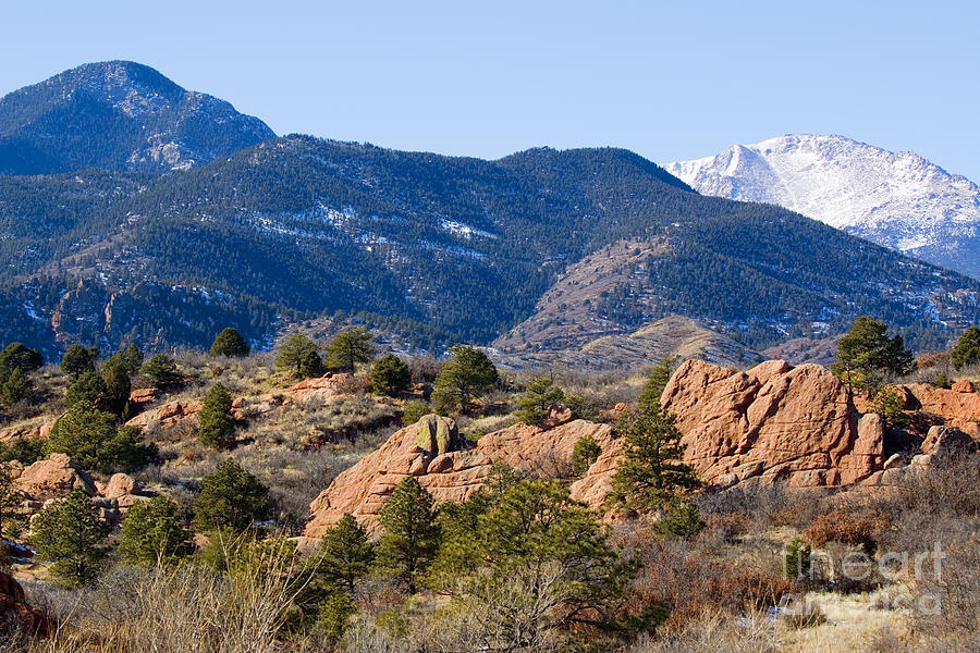 Pikes Peak And Red Rock Canyon Photograph