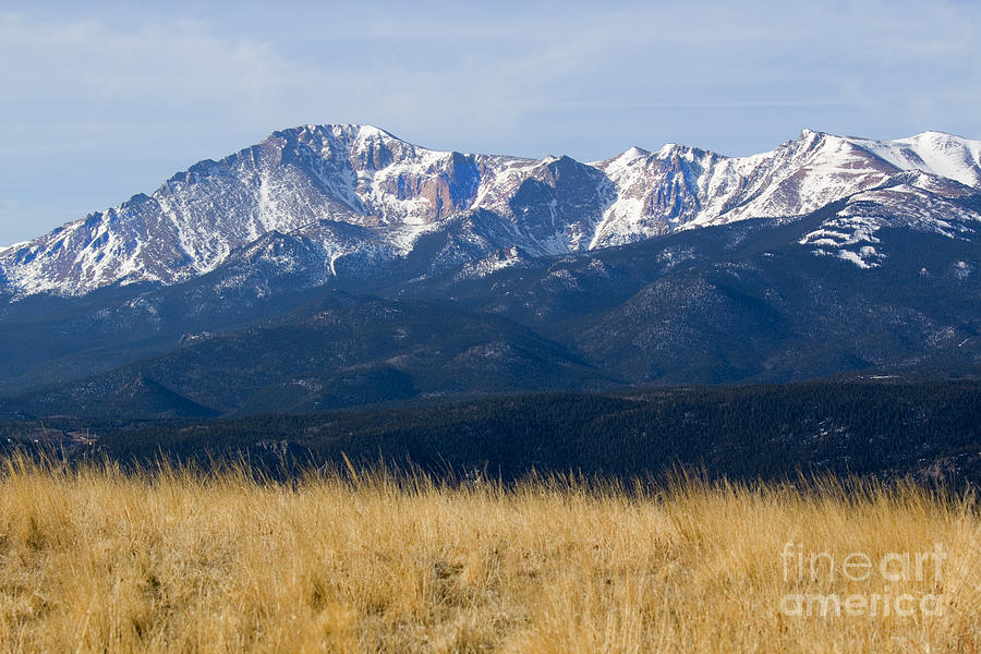 Pikes Peak And Trail To Bald Mountain Photograph