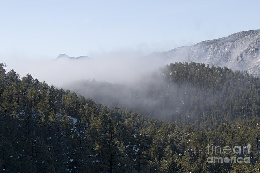 Pikes Peak And Ute Pass And Clouds After Snowstorm Photograph