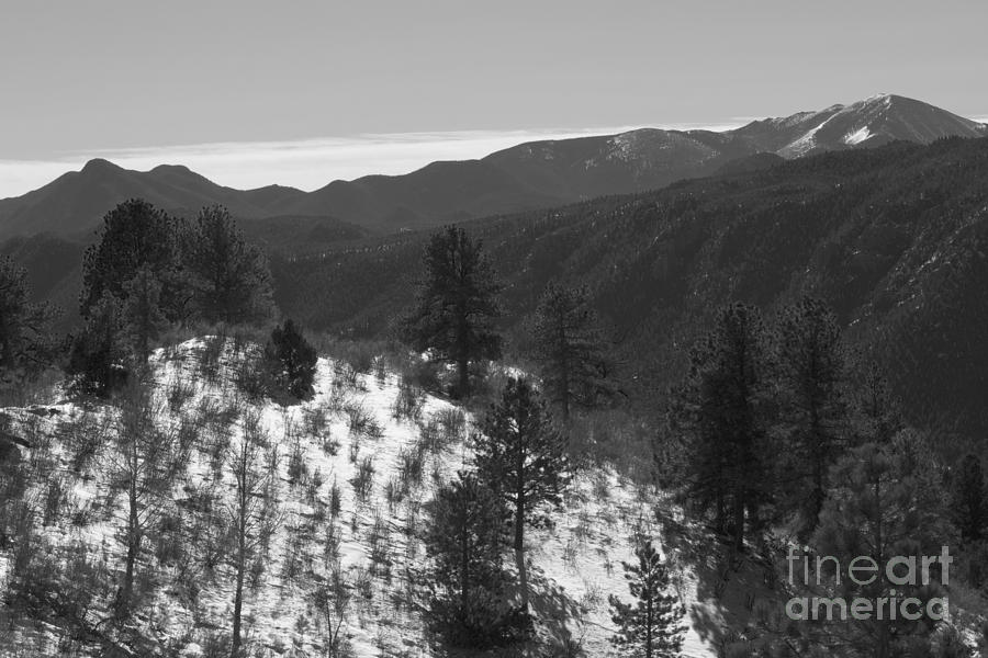 Pikes Peak Foothills After A Big Colorado Snowstorm Photograph