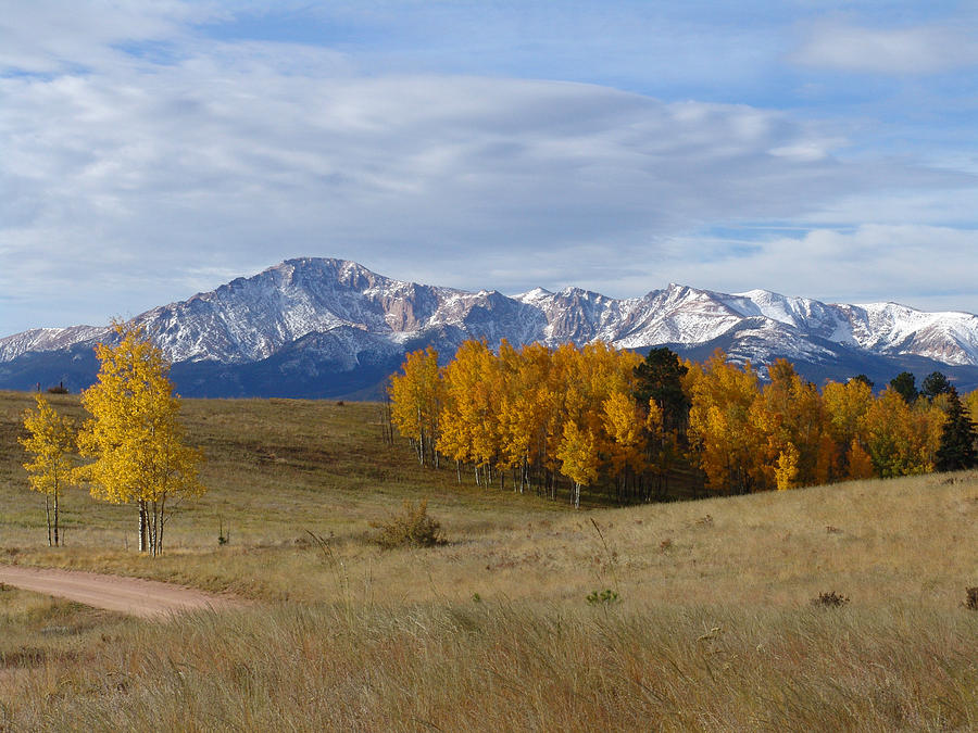 Fall Photograph - Pikes Peak In The Fall by Carol Milisen