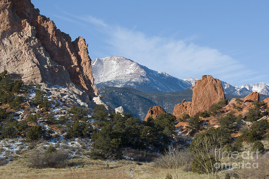 Pikes Peak In The Garden Valley Photograph