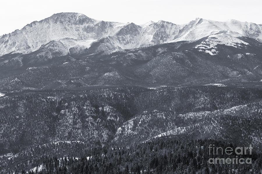 Pikes Peak In Winter Photograph
