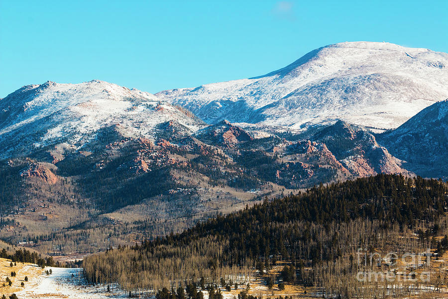 Pikes Peak Winter Photograph