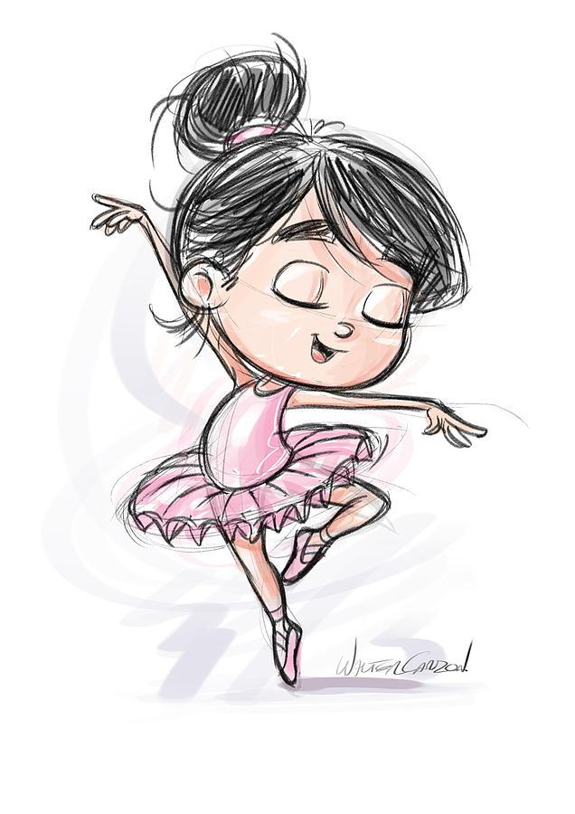 Pilar The Ballerina Drawing By Kike Calvo