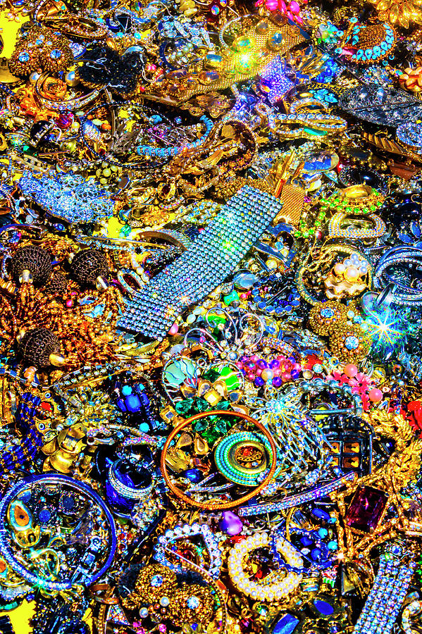 Pile Photograph - Piles Of Vintage Jewelry by Garry Gay
