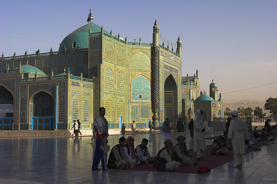 Adult Photograph - Pilgrims At The Shrine Of Hazrat Ali by Jane Sweeney