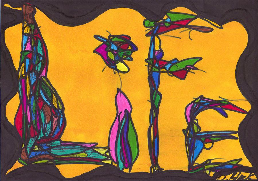Drawing Drawing - Pillar Of Life by Darrell Black