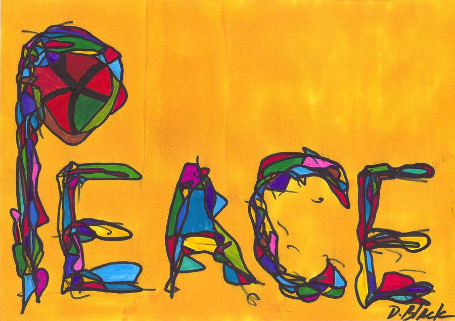 Darrell Black Drawing - Pillar Of Peace by Darrell Black