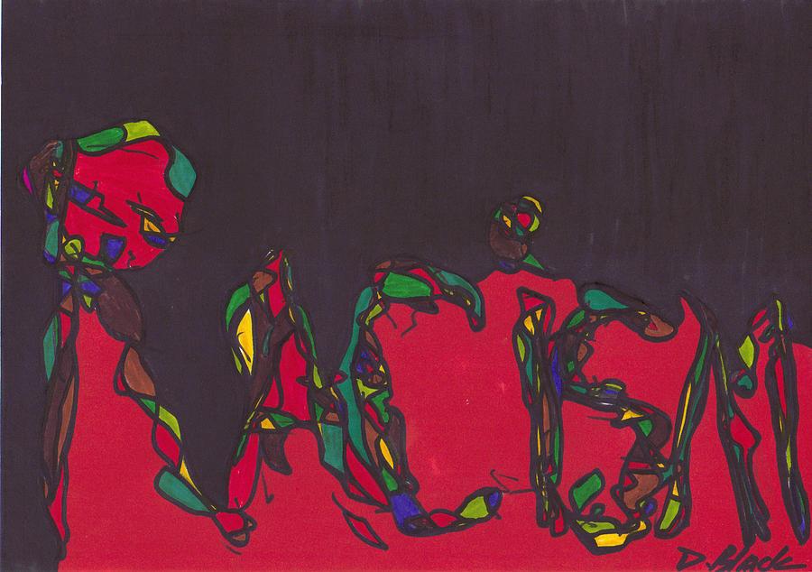 Darrell Black Drawing - Pillar Of Racism by Darrell Black