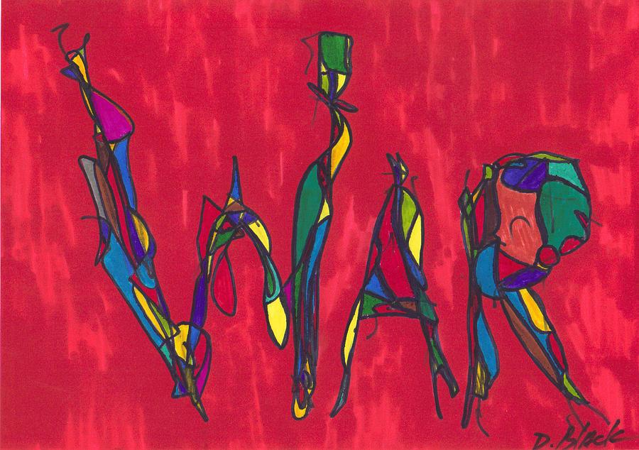 Drawing Drawing - Pillar Of War by Darrell Black