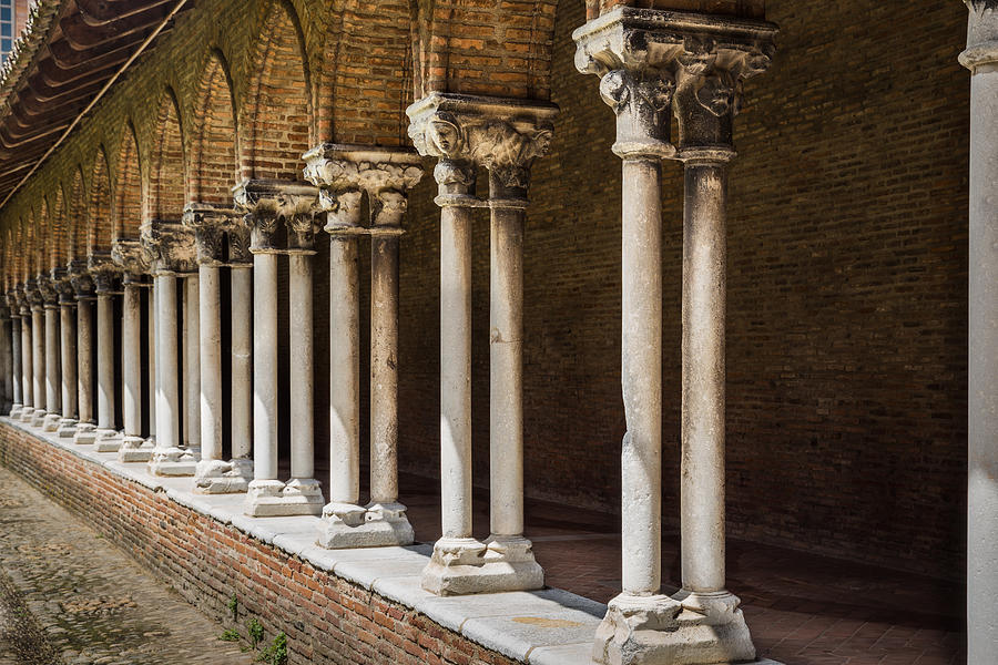 Arches Photograph - Pillars Insde Eglise Des Jacobins Or Church Of The Jacobins by Semmick Photo
