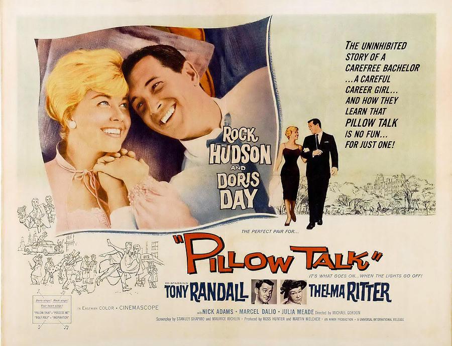 1959 Movies Photograph - Pillow Talk, Doris Day, Rock Hudson by Everett